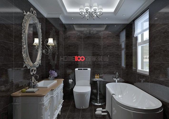 欧式 大话装修 8090 设计 施工 卫生间图片来自百家装饰--小莹在名流印象137平欧式风格的分享