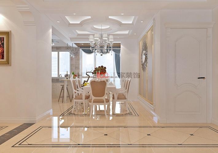 欧式 大话装修 8090 设计 施工 餐厅图片来自百家装饰--小莹在名流印象137平欧式风格的分享