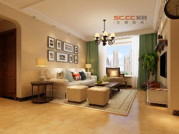 石家庄福美国际120-美式田园风格