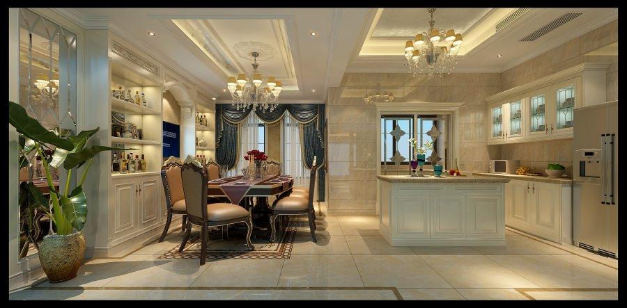 简约法式 成都龙发 别墅装修 餐厅图片来自成都装修找龙发在复地御香山简约法式风格的分享