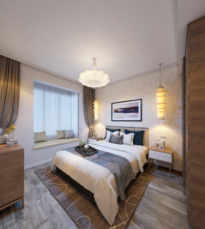 卧室图片来自业之峰装饰旗舰店在水上华城 -灰色气球的浪漫的分享