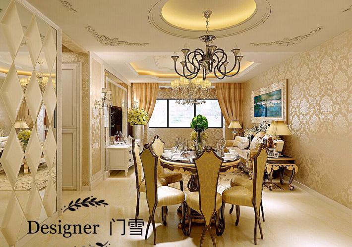 奉天九里 欧式经典 三居 百家装饰 餐厅图片来自百家设计小刘在奉天九里125平欧式经典半包5.5万的分享