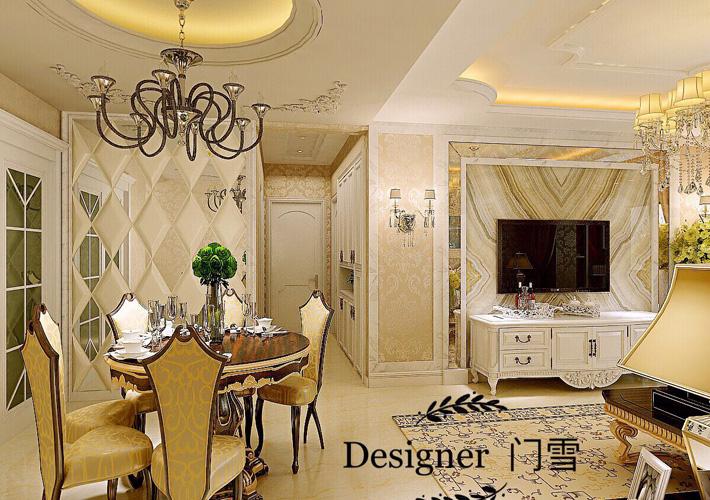 奉天九里 欧式经典 三居 百家装饰 客厅图片来自百家设计小刘在奉天九里125平欧式经典半包5.5万的分享