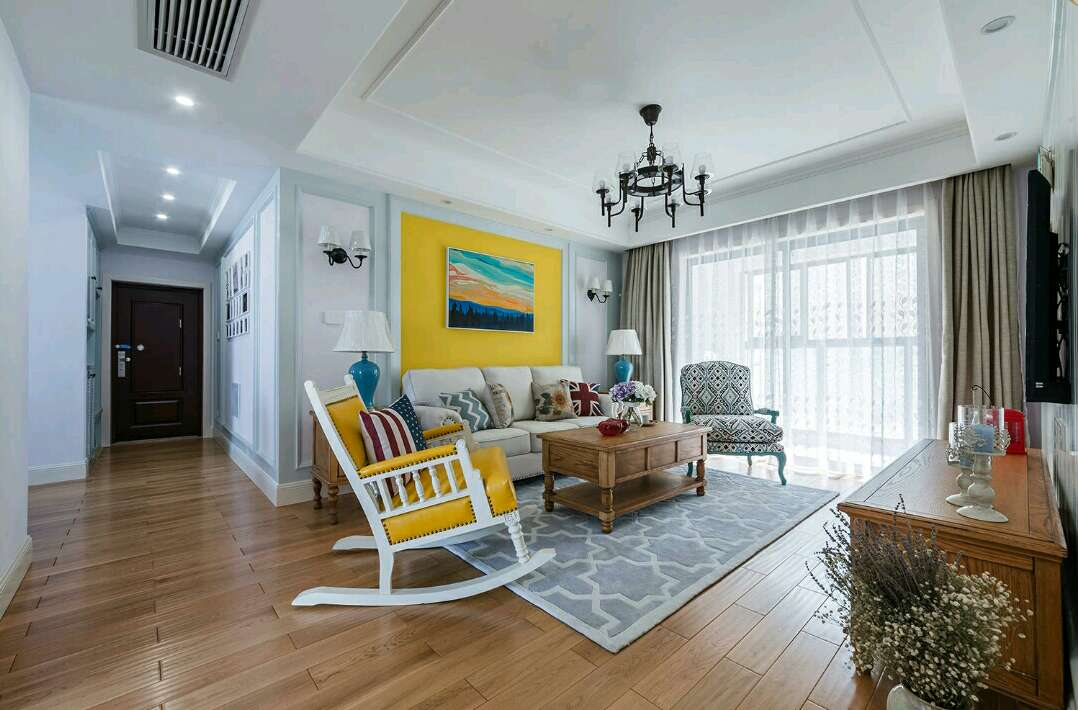 简约 欧式 田园 混搭 二居 别墅 白领 收纳 旧房改造 客厅图片来自名星装饰在正堂山外山的分享