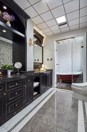 美式 三居 80后 小资 白领 卫生间图片来自金空间装饰集团在北辰三角洲 美式风的分享