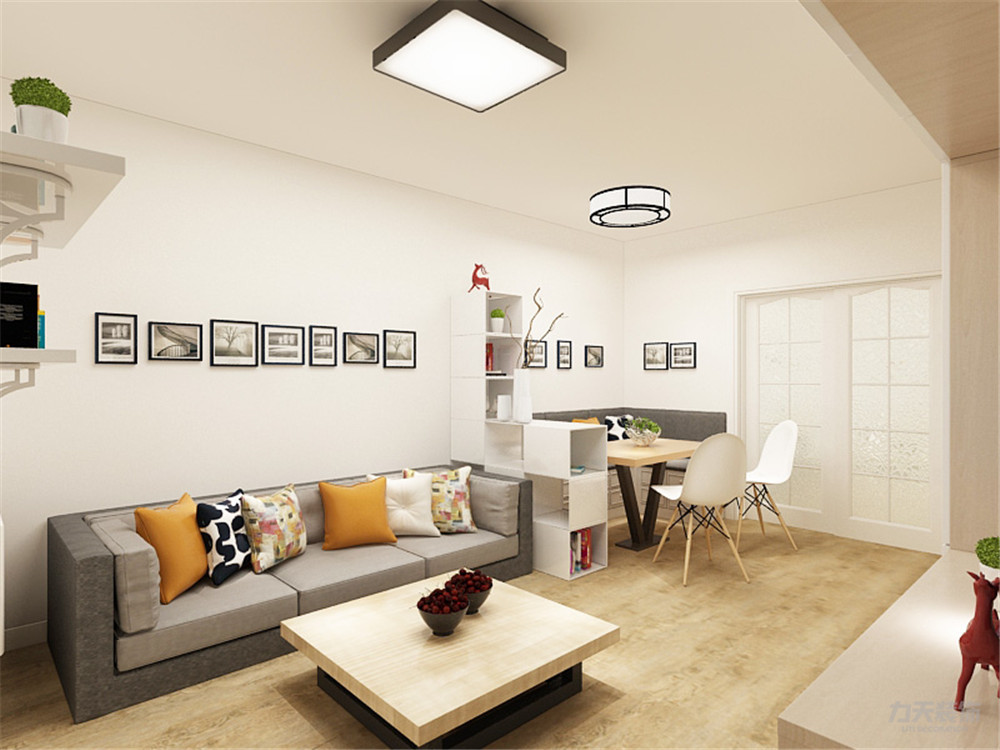 北欧 欧式 二居 收纳 小资 客厅图片来自阳光力天装饰在力天装饰-美宁公寓-95㎡-北欧的分享