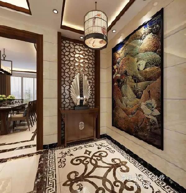 中国传统室内陈设包括字画、匾幅、挂屏、盆景、瓷器、古玩、屏风、博古架等,追求一种修身养性的生活境界。