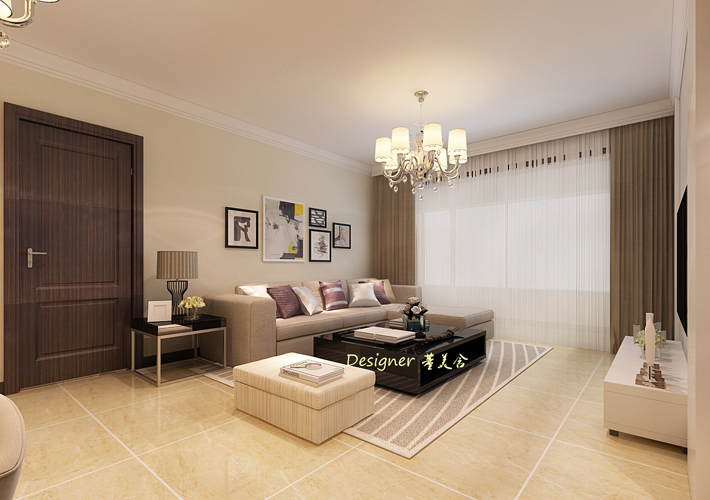 三居 现代风格 梧桐苑 客厅图片来自百家设计小刘在梧桐苑110平现代风格半包4万的分享