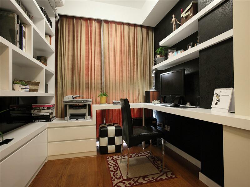 简约 现代 三居 大户型 80后 小资 白领 公寓 书房图片来自高度国际姚吉智在140平米现代简约三居沉色黯香来的分享