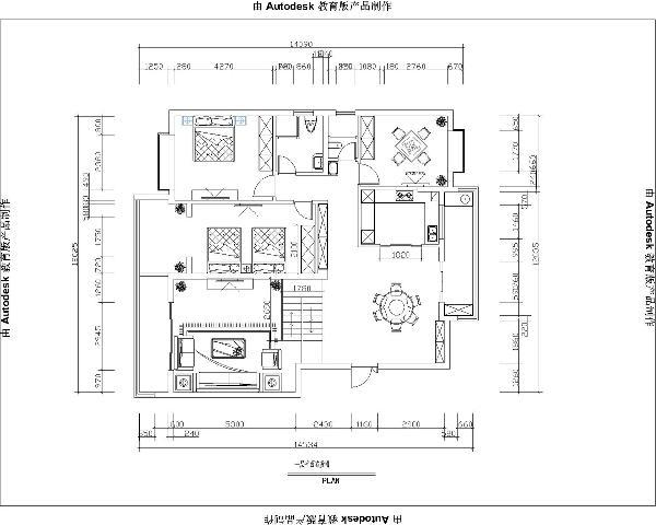 图为一楼的户型平面布置图