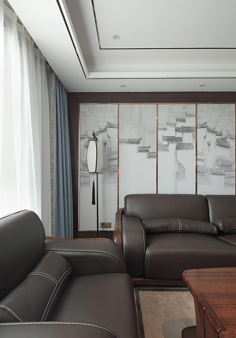 客厅图片来自家装大管家在过目不忘 138平新中式韵味4居室的分享