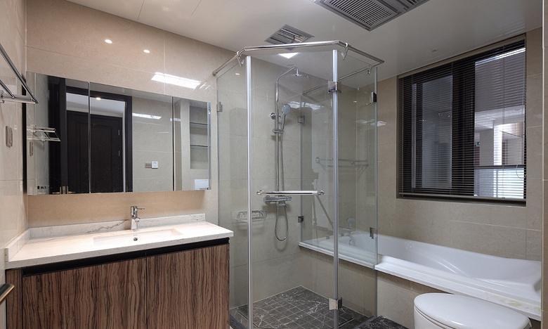 卫生间图片来自家装大管家在过目不忘 138平新中式韵味4居室的分享
