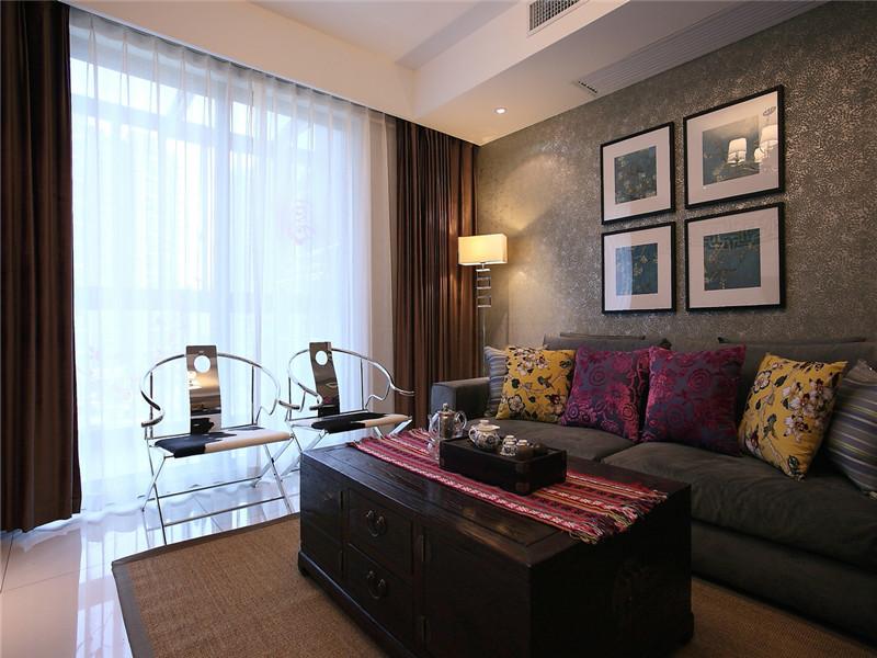 简约 现代 三居 大户型 80后 小资 白领 公寓 客厅图片来自高度国际姚吉智在140平米现代简约三居沉色黯香来的分享