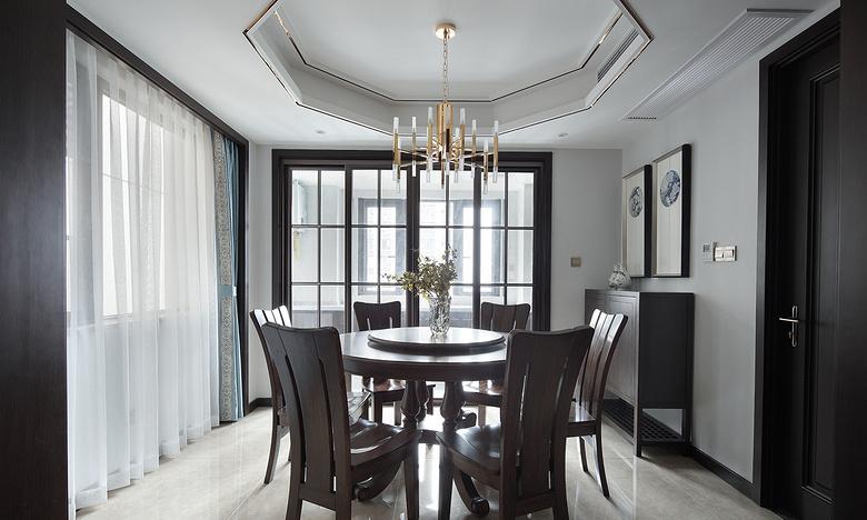 餐厅图片来自家装大管家在过目不忘 138平新中式韵味4居室的分享