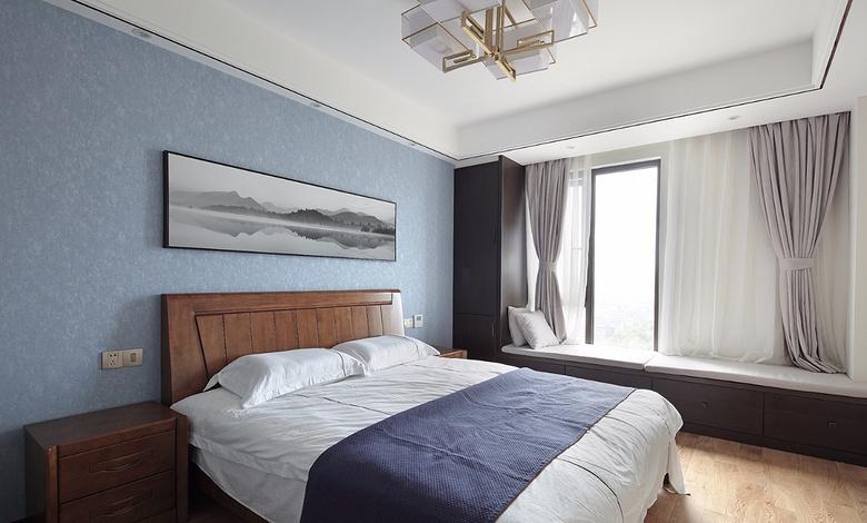卧室图片来自家装大管家在过目不忘 138平新中式韵味4居室的分享
