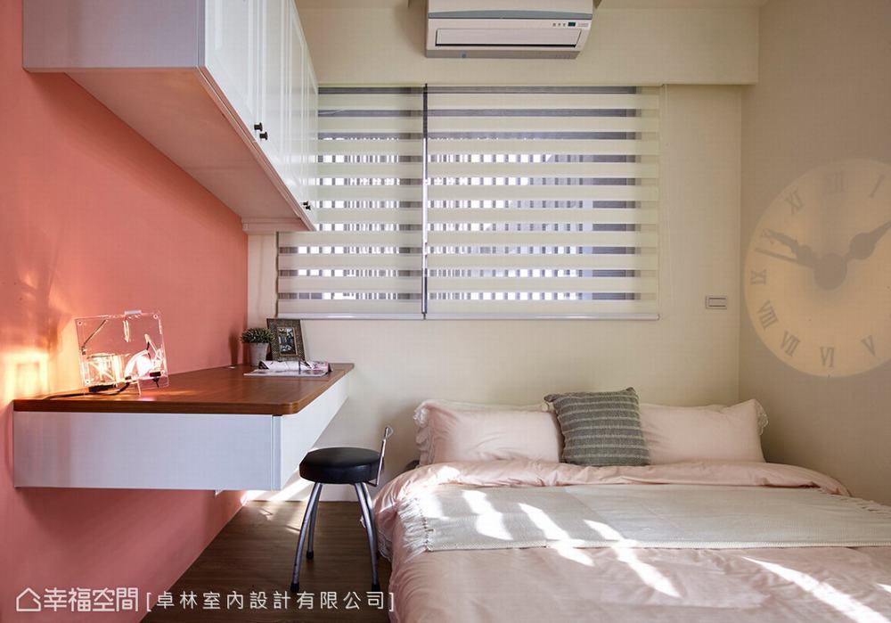 二居 美式 卧室图片来自幸福空间在日光美式宅 砌出89平的馨暖惬意的分享