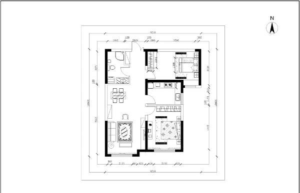入户门右手边有个可以容纳一个鞋柜的小空间,门左手边是次卧,次卧的空间相对较长,采光很少,只有一个小窗户;次卧的对面是个6.4平米的卫生间
