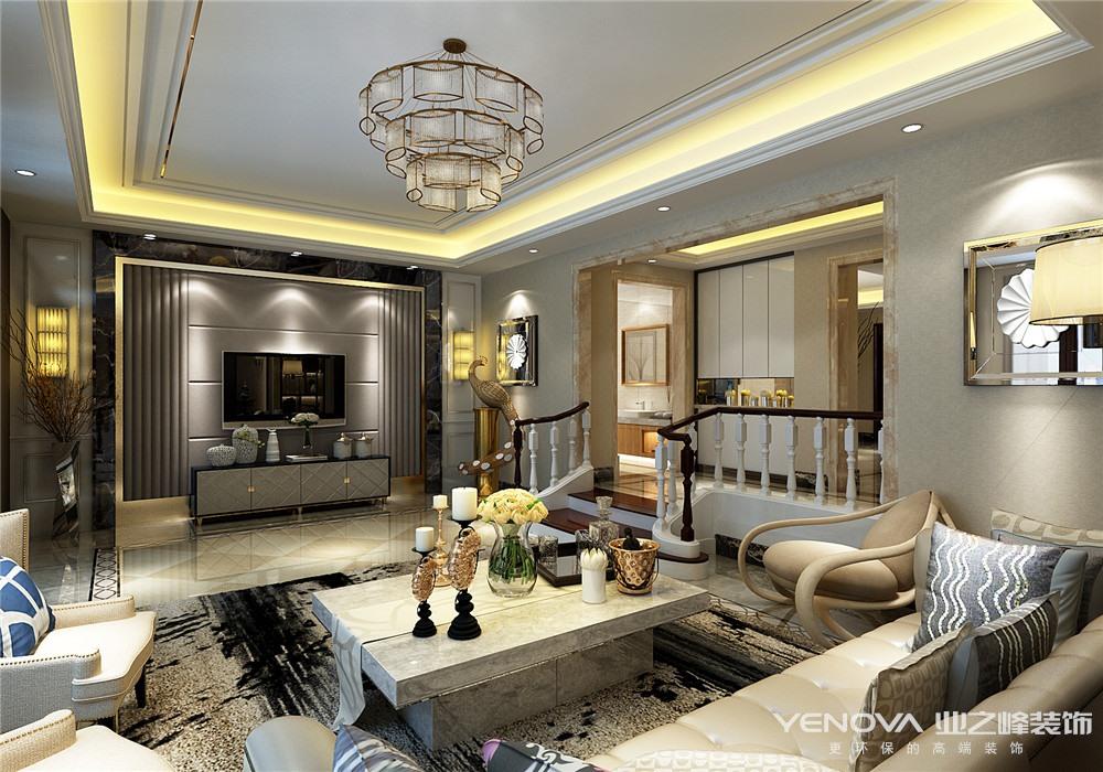 客厅图片来自青岛业之峰装饰--小娟在玫瑰庭院340㎡港式风格的分享