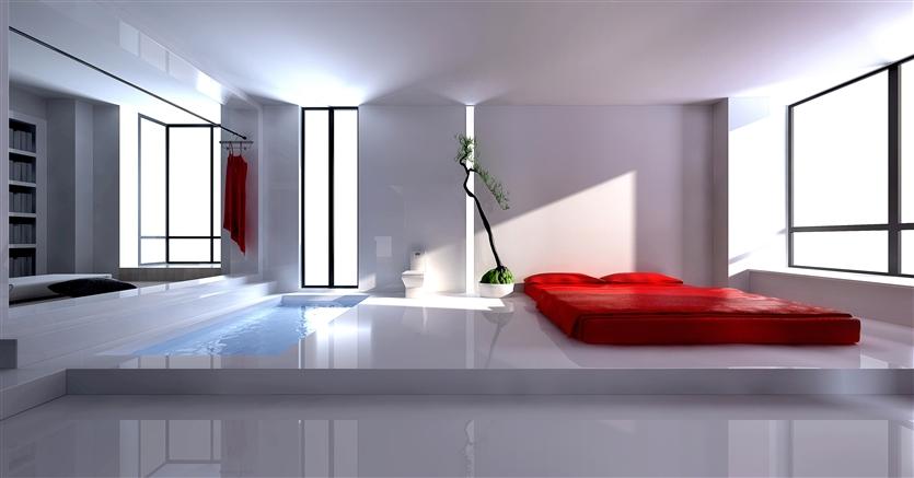 简约 别墅 80后 小资 卧室图片来自鸿扬家装武汉分公司在梅南山居-纯白世界的分享