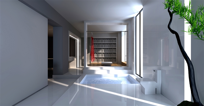 简约 别墅 80后 小资 客厅图片来自鸿扬家装武汉分公司在梅南山居-纯白世界的分享