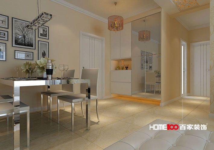 二居 客厅 餐厅图片来自百家装饰小西在名流印象90平现代风格的分享