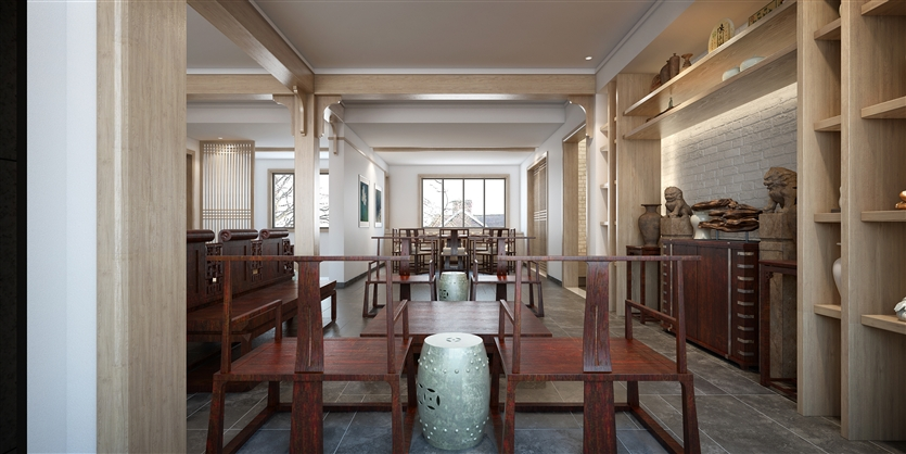 小资 白领 中式 复地东湖 七期 餐厅图片来自鸿扬家装武汉分公司在复地东湖国际-明式古雅的分享