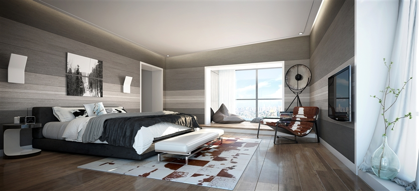 简约 白领 收纳 80后 小资 三居 卧室图片来自鸿扬家装武汉分公司在复地东湖国际-北欧之光的分享