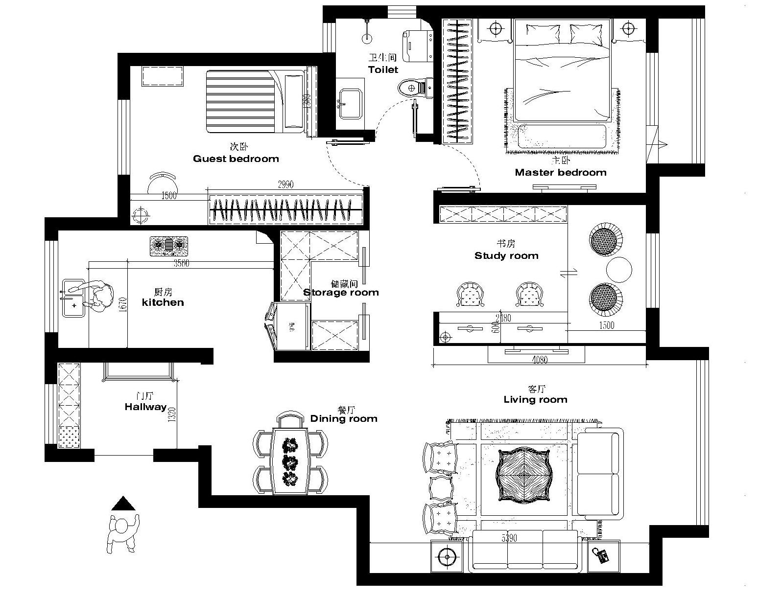 田园 三居 卧室 餐厅 客厅 小资图片来自广州实创装饰任建召在美式乡村126平方的分享