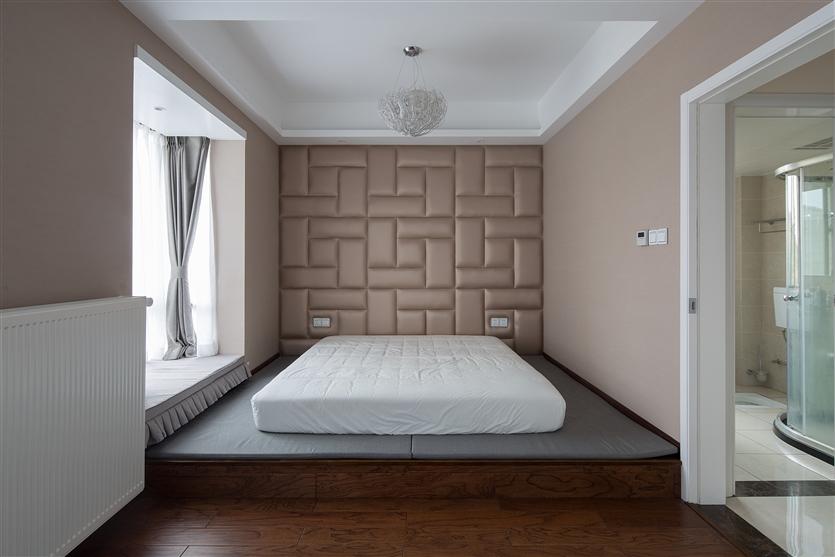 简约 白领 80后 小资 三居 卧室图片来自鸿扬家装武汉分公司在复地东湖国际-现代简约-鸿扬家装的分享