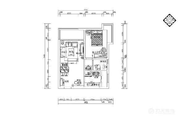 房间布局紧凑,基本没有浪费的地方,其中客厅和主卧室占的面积较大,卫生间为干湿分离的形式比较方便,并且湿区部分有窗,采光较好也有助于通风