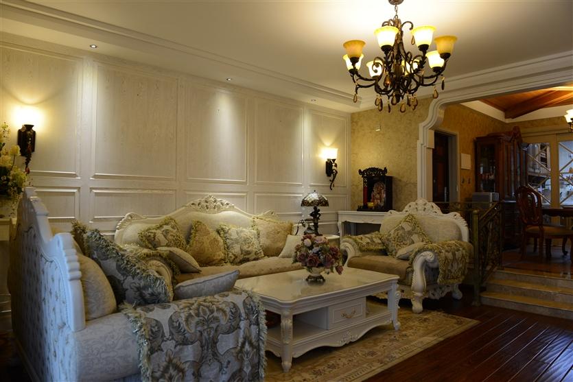 客厅图片来自鸿扬家装武汉分公司在美联城仕二期140-鸿扬家装的分享