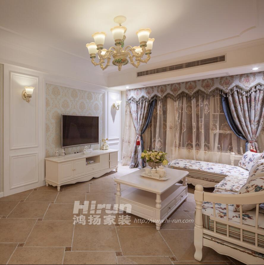 客厅图片来自鸿扬家装武汉分公司在美联城仕二期125-鸿扬家装的分享
