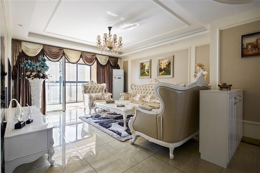 客厅图片来自鸿扬家装武汉分公司在美联城仕二期-鸿扬家装的分享