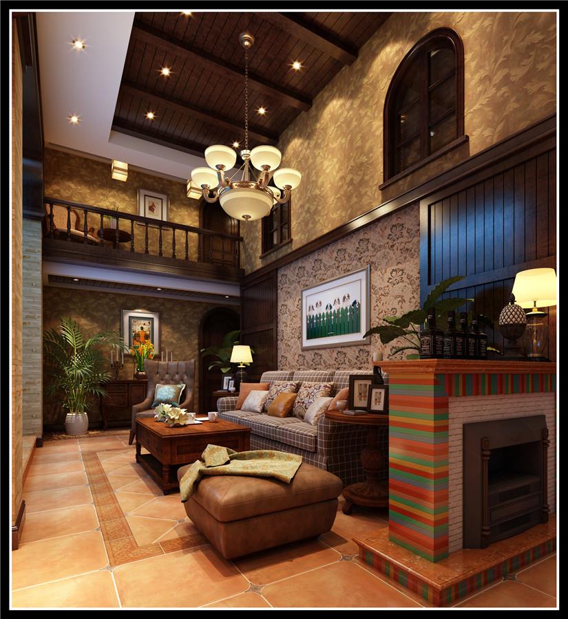 别墅 收纳 小资 客厅图片来自先施工后付款众森装饰在万科海上传奇-美式风格-别墅的分享
