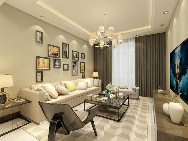 客厅的位置合理,大小空间方便,空间感加强。厕所厨房地面采用300*300的地砖。卧室地面采用强化复合地板。餐厅和客厅地面采用800*800的地砖