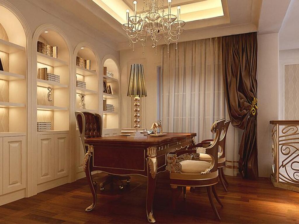 别墅 美式 书房图片来自tjsczs88在美轮美奂美式家的分享