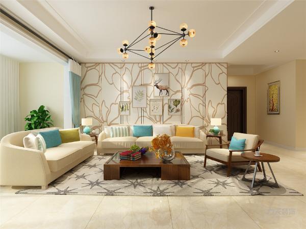 客厅和餐厅的位置合理,大小空间方便,空间感加强。厕所厨房地面采用300*300的地砖。