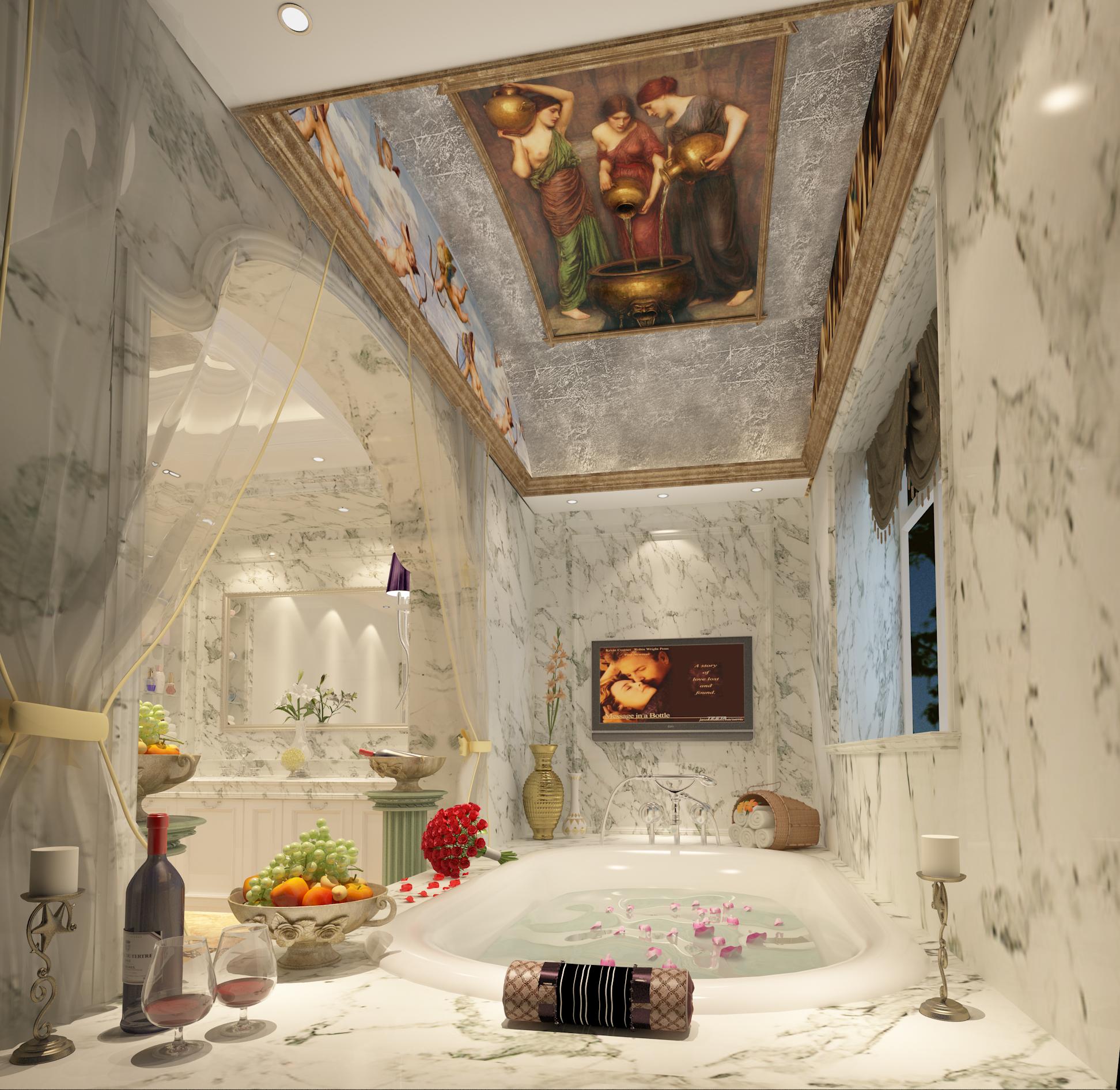 卫生间图片来自圣奇凯尚室内设计工作室在传世康婷·800㎡独栋的分享