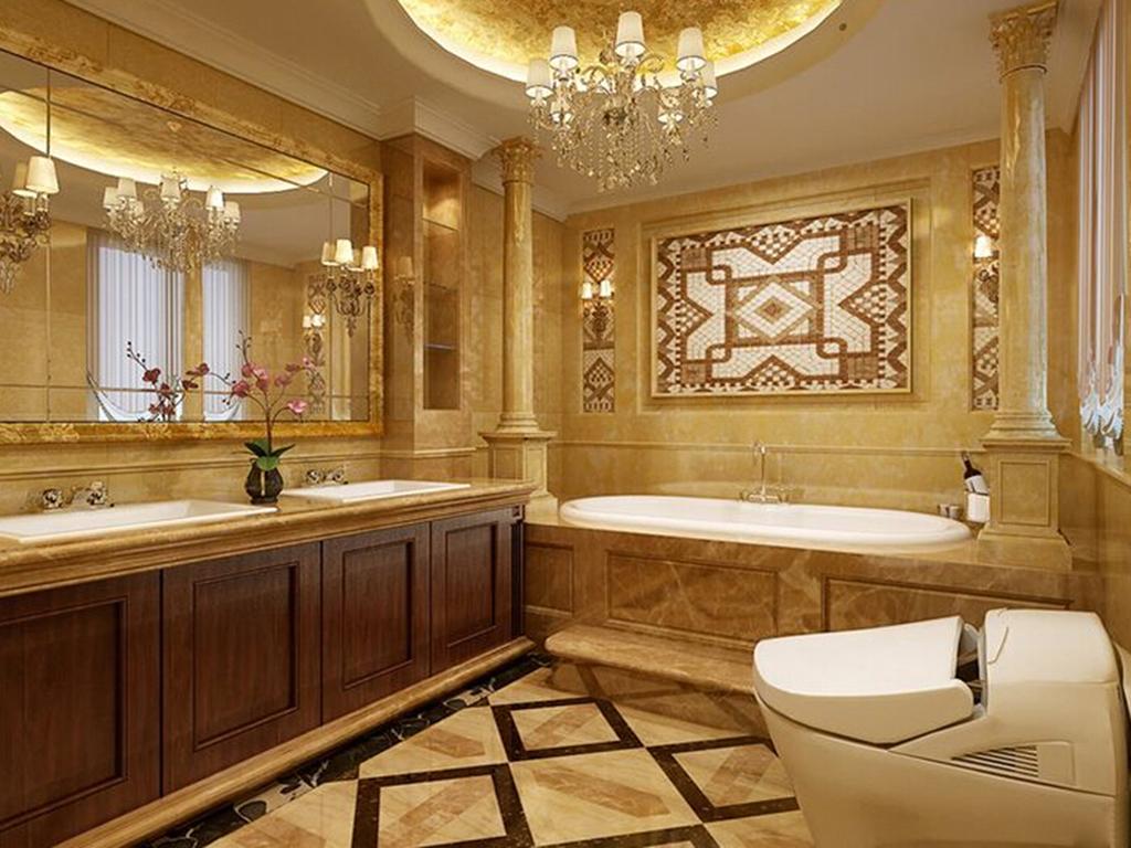 别墅 美式 卫生间图片来自tjsczs88在美轮美奂美式家的分享
