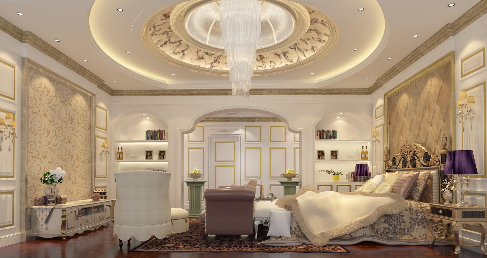 卧室图片来自圣奇凯尚室内设计工作室在传世康婷·800㎡独栋的分享