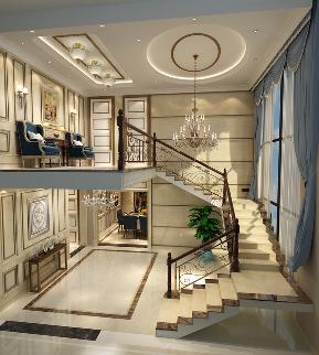 欧式 别墅 小资 楼梯图片来自圣奇凯尚室内设计工作室在繁洛世家·滨河园650平独栋别墅的分享