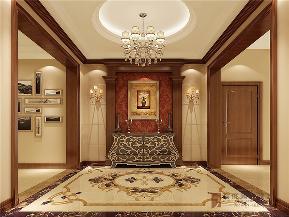 美式 四居 公寓 跃层 大户型 80后 小资 玄关图片来自高度国际姚吉智在236平米美式大平层回归自然质朴的分享