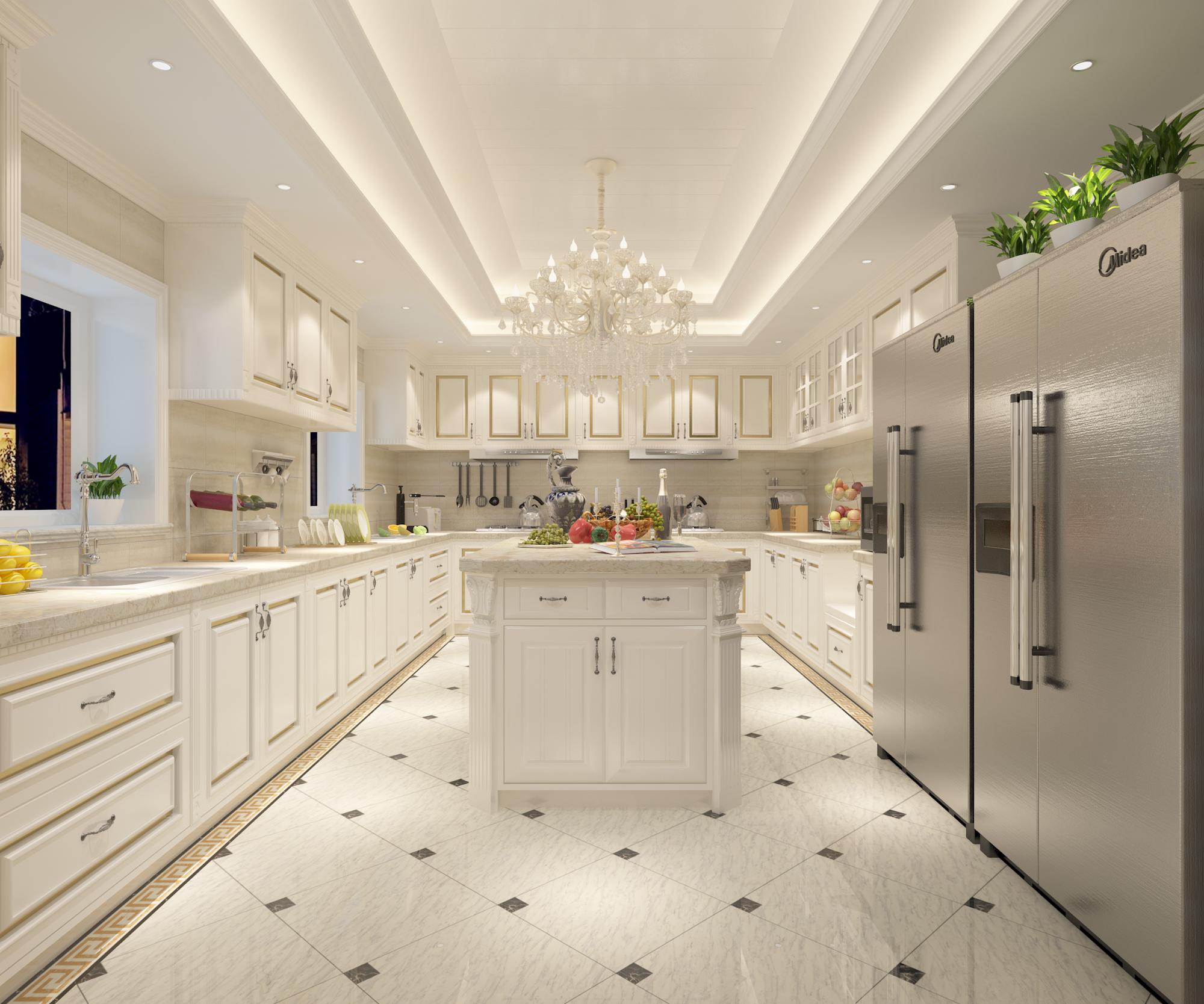 厨房图片来自圣奇凯尚室内设计工作室在传世康婷·800㎡独栋的分享