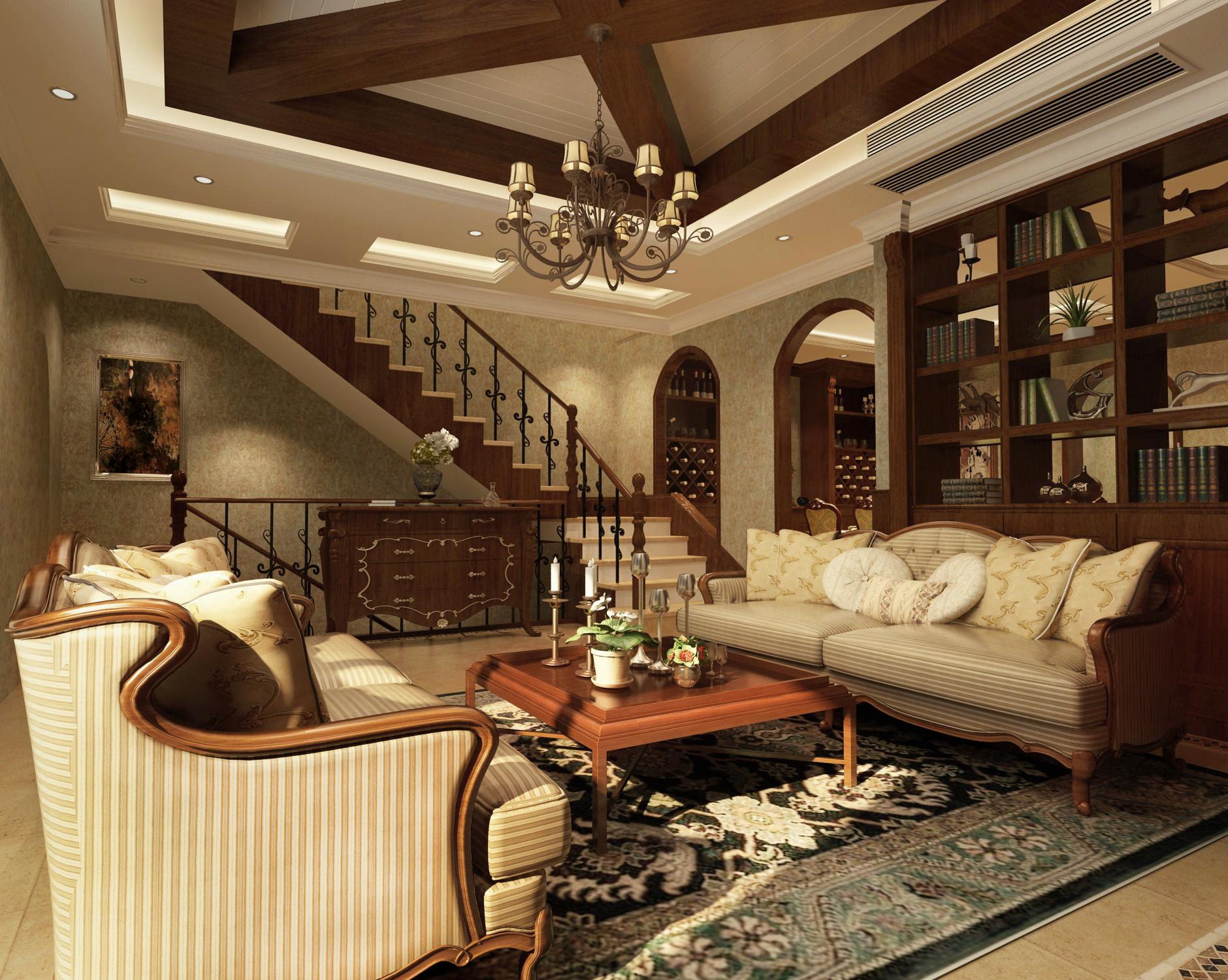 客厅图片来自圣奇凯尚室内设计工作室在芳华世桥.龙湖好望山的分享