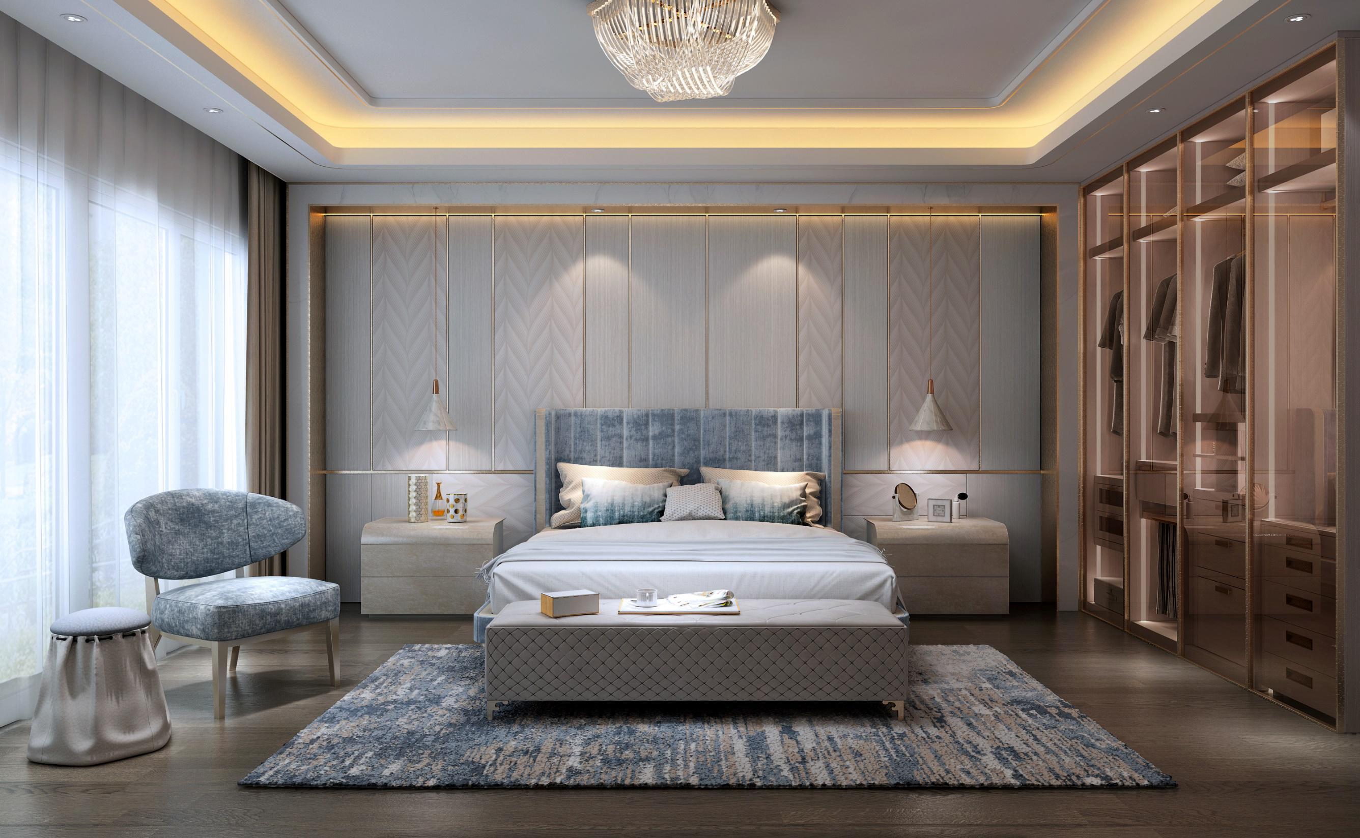 三居 旧房改造 80后 小资 简约 卧室图片来自观巢国际实景家装在Essence  雅颂--极致奢华为雅的分享