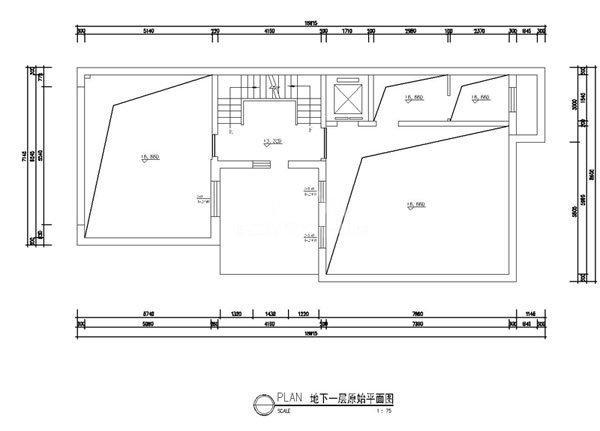 户型原始平面图(地下一层)