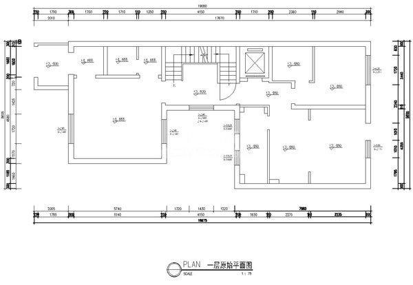 户型原始平面图(一层)