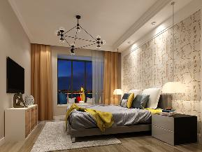 现代 简约 灰色 温馨 卧室图片来自圣奇凯尚室内设计工作室在圣奇凯尚装饰-国风美唐后现代的分享