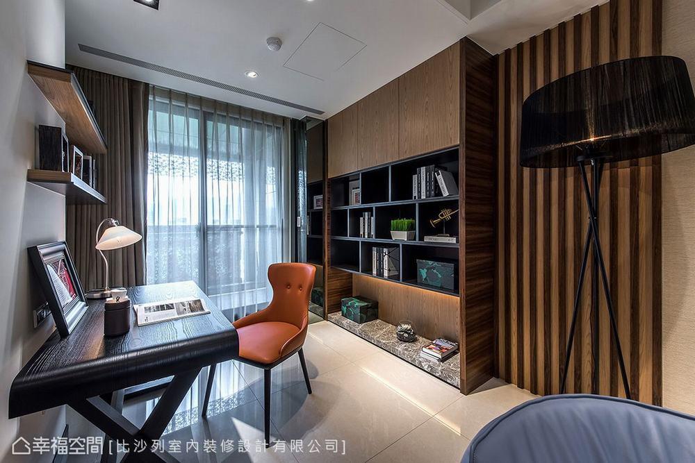 三居 现代 大户型 书房图片来自幸福空间在满分规划长型屋 215平现代新面貌的分享