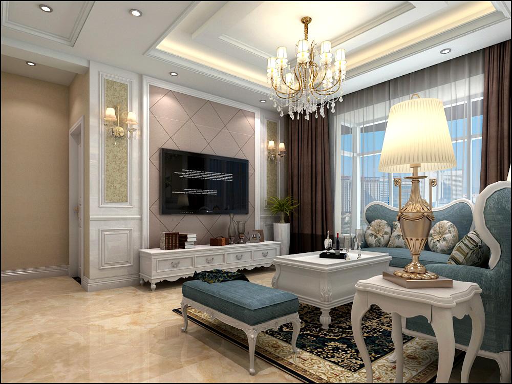 欧式 三居 白领 80后 客厅图片来自广西品匠装饰集团在大唐天成欧式风格装修案例的分享